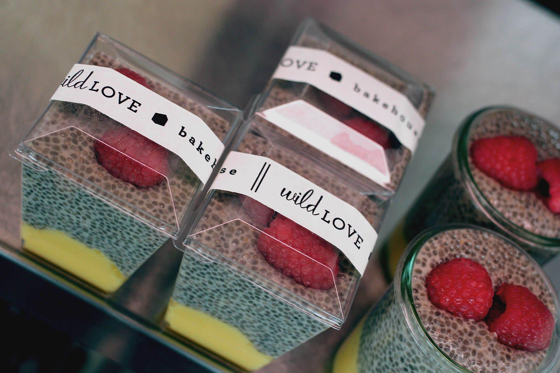 Wild Love Bakehouse package design chia yogurt