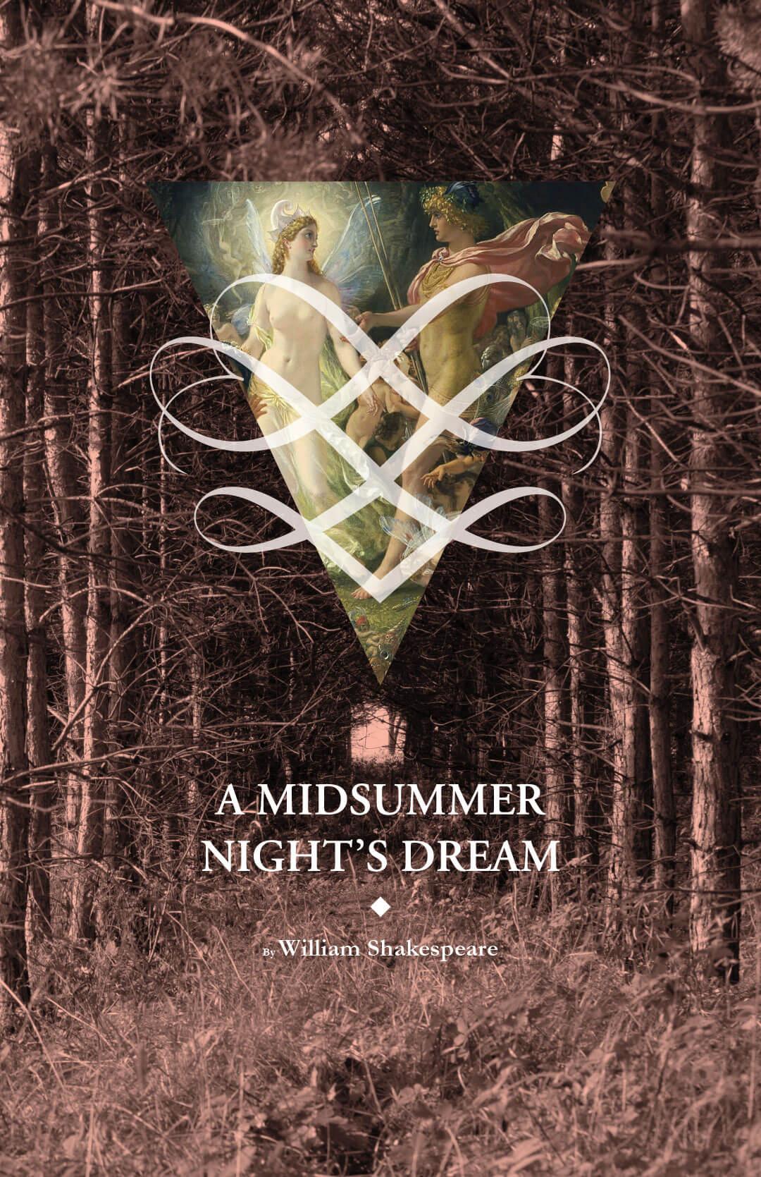 Virginia Tech School of Performing Arts show poster - A Midsummer Night's Dream