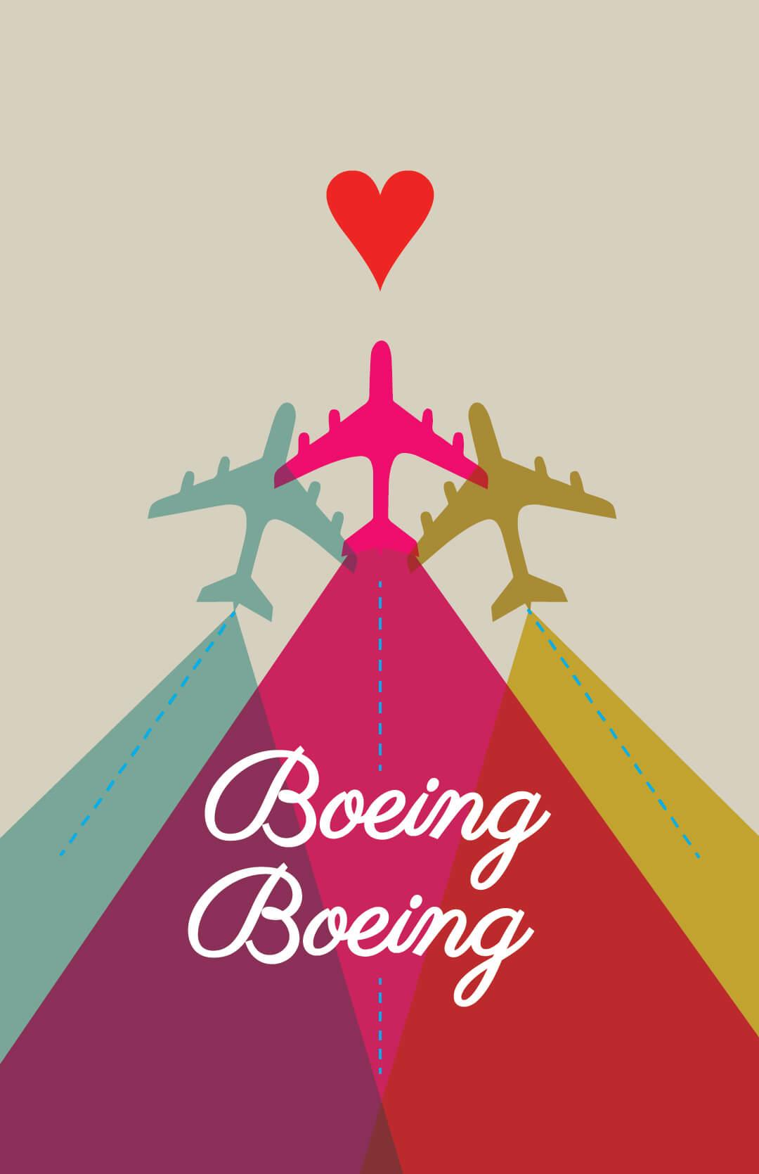 Virginia Tech School of Performing Arts show poster - Boeing Boeing