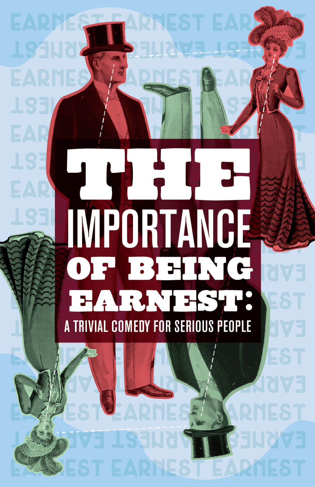 Virginia Tech School of Performing Arts show poster - The Importance of Being Earnest