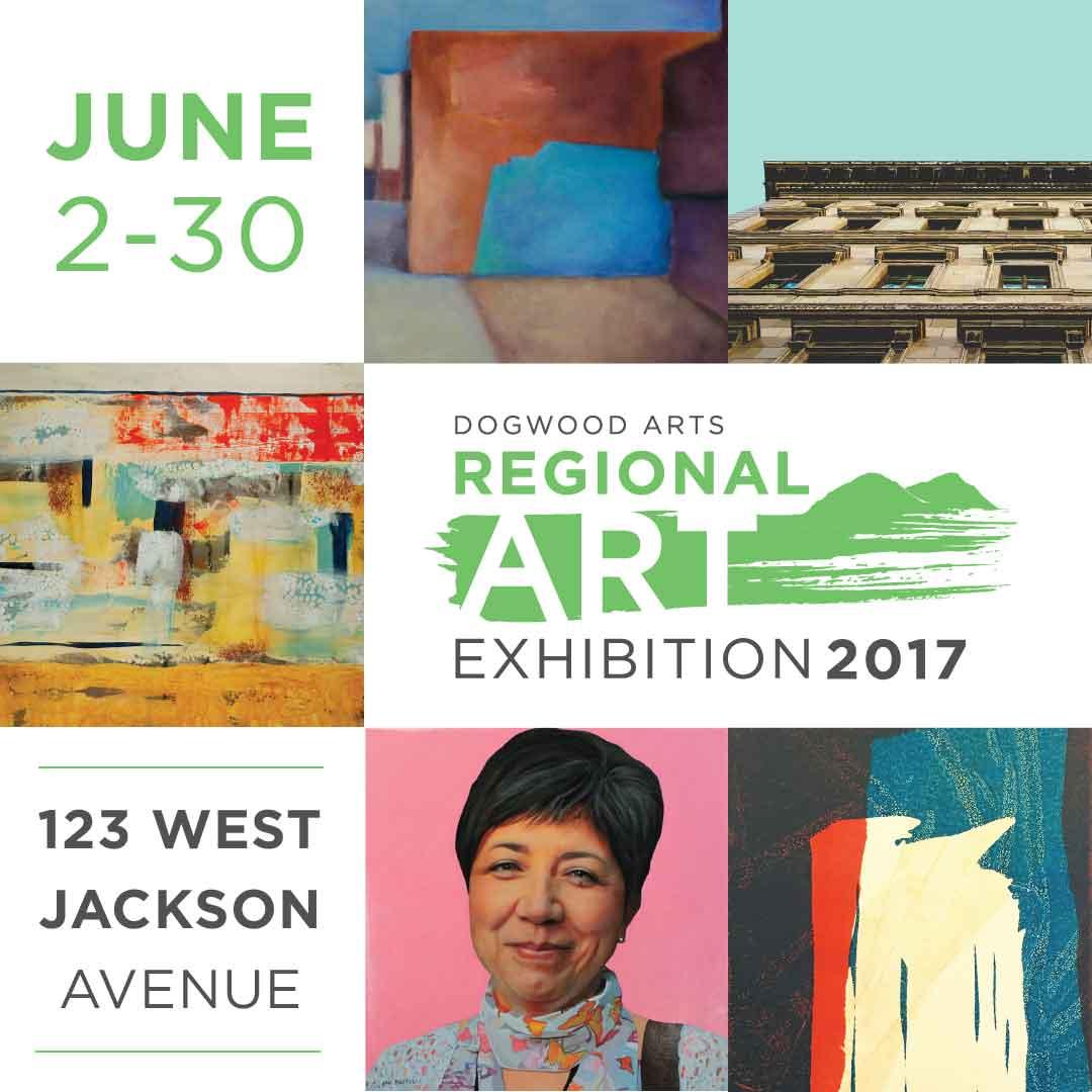 Dogwood Arts 2017 Regional Arts Exhibition graphic