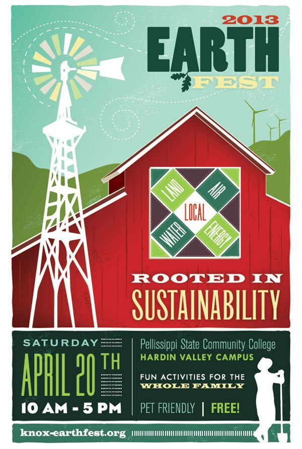 Earth Fest Knoxville 2013 poster illustration