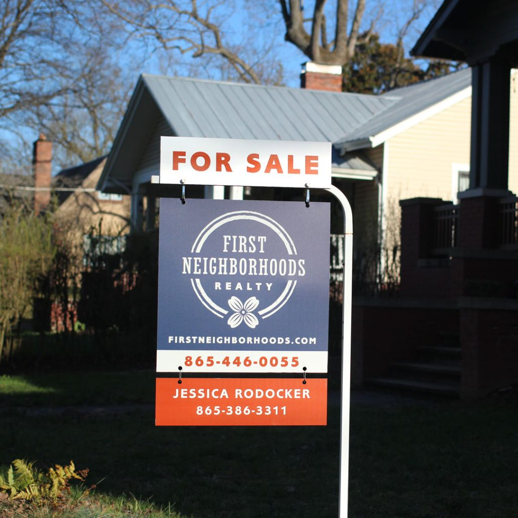 First Neighborhoods Realty yard sign