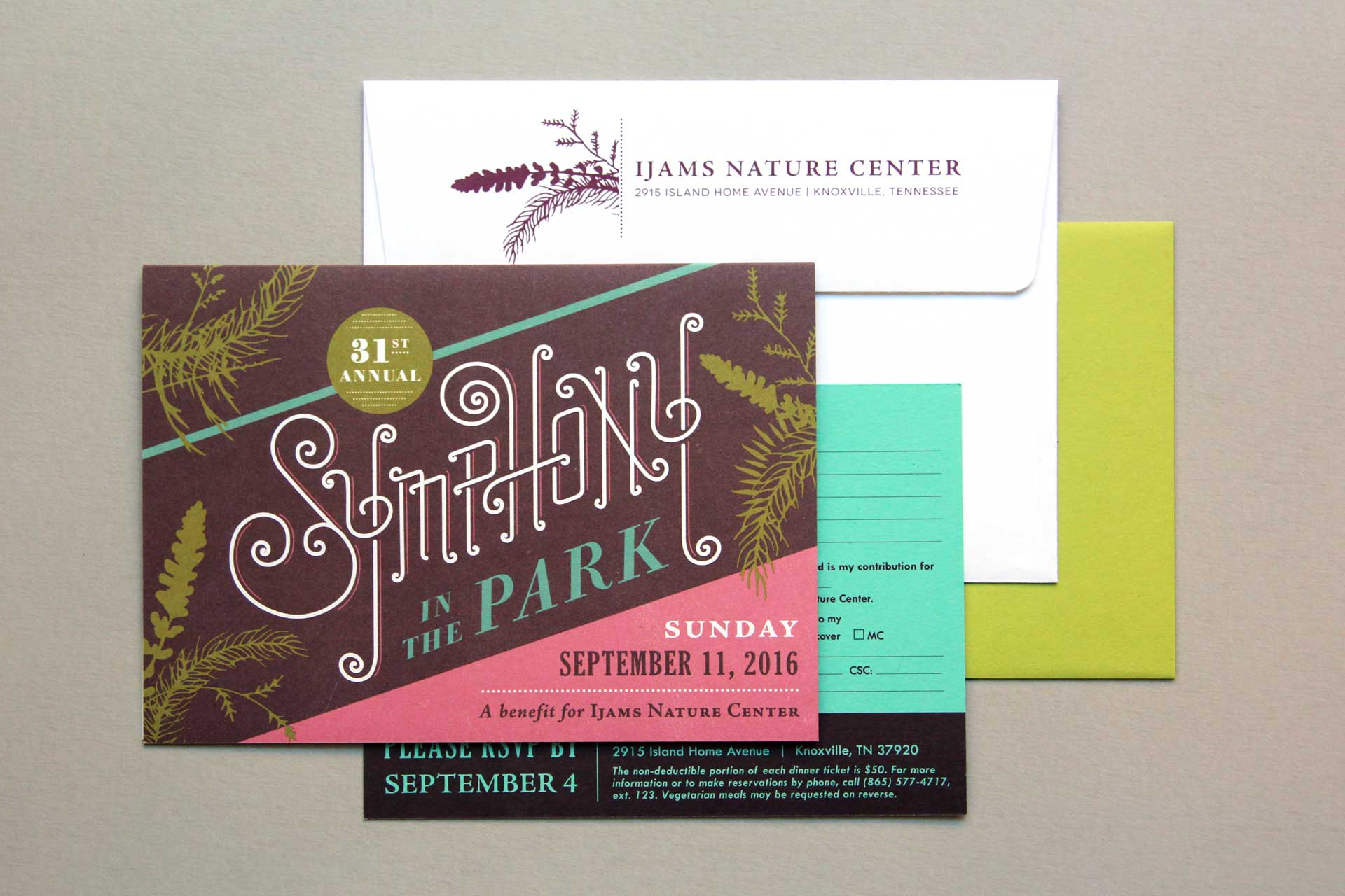 Ijams Nature Center Symphony In the Park invitation