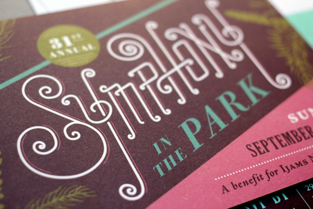 Ijams Nature Center Symphony In the Park invitation detail