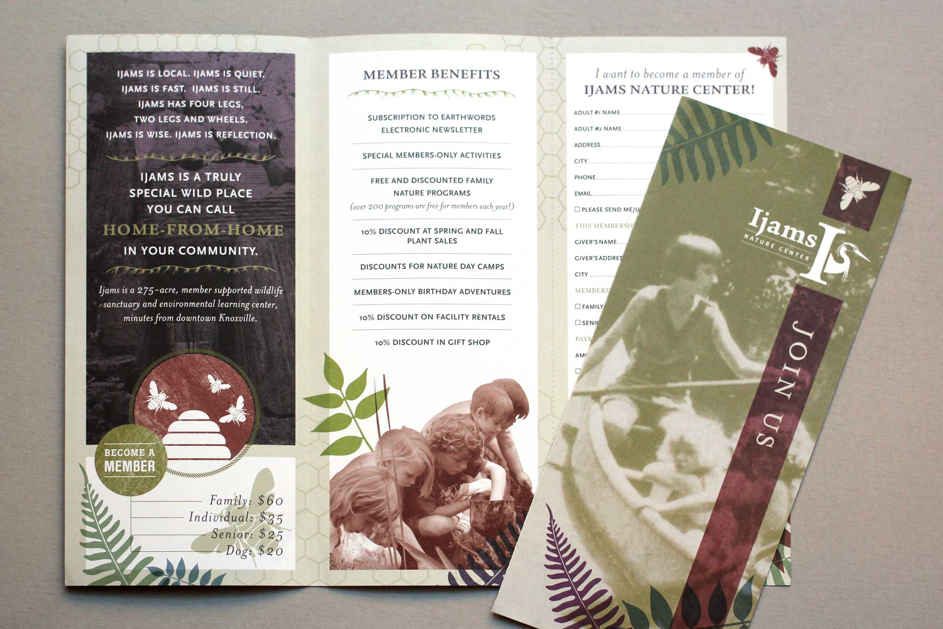 Ijams Nature Center membership brochure