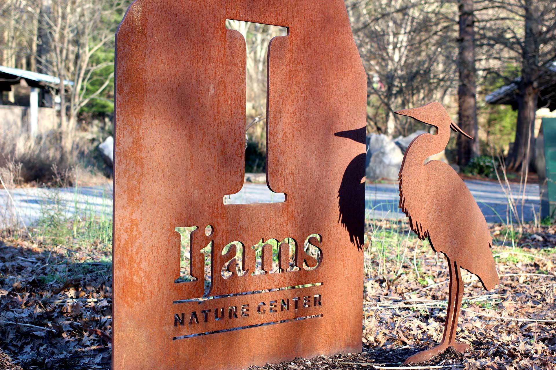 Ijams Nature Center metal sign
