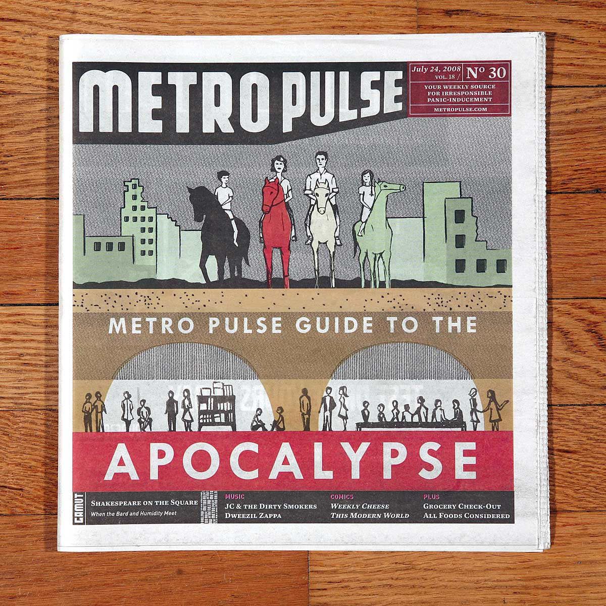 Apocalypse cover art editorial illustration