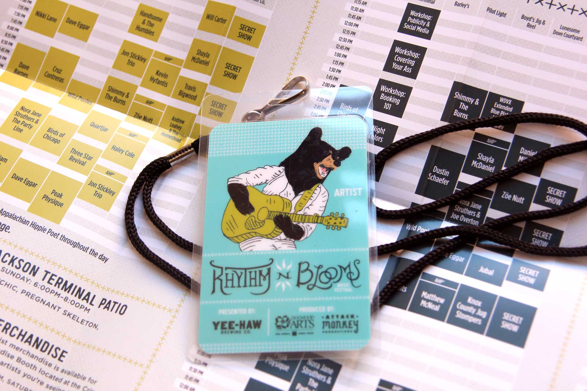 Rhythm N Blooms pass and schedule