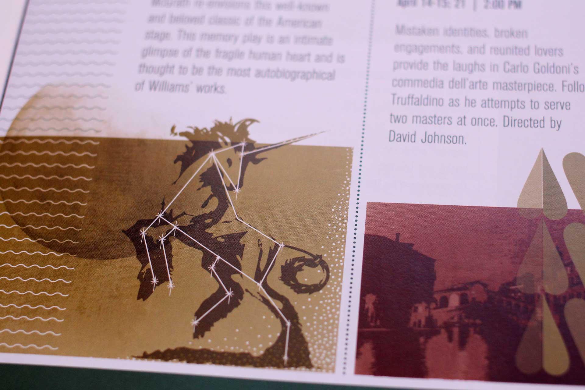 Virginia Tech School of Performing Arts brochure detail